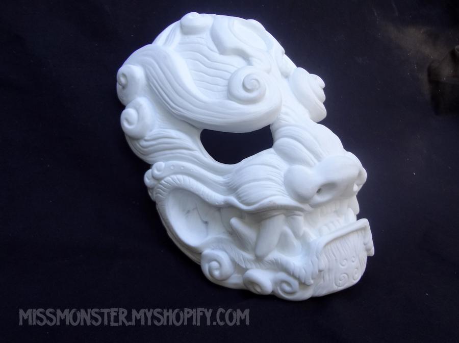 Komainu mask BLANKS for sale by missmonster