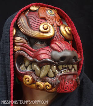 Red Komainu mask by missmonster