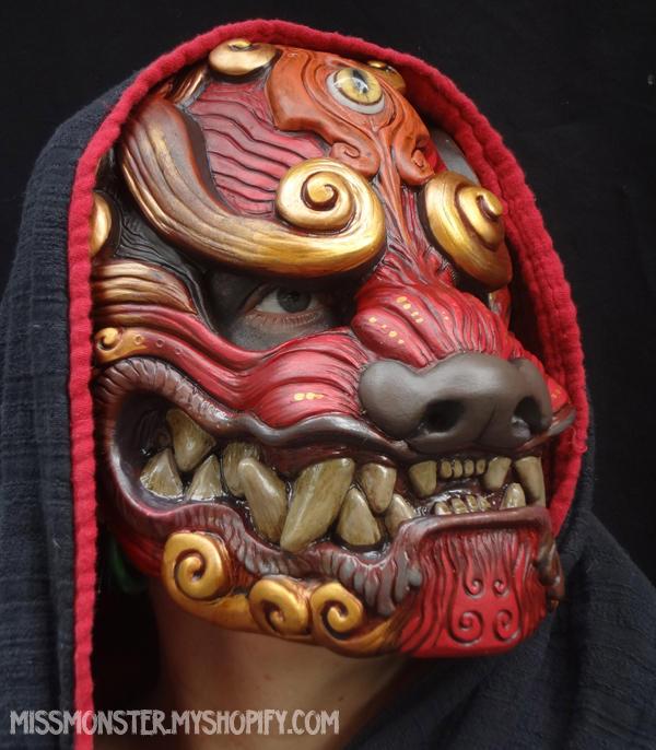 Red Komainu mask