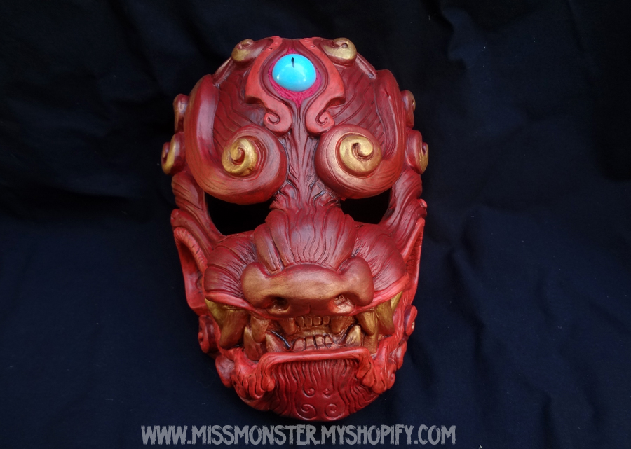 Fire Komainu masks last edition by missmonster
