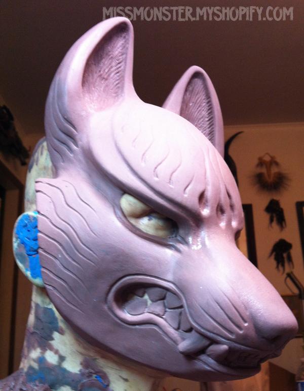 Kitsune mask WIP by missmonster