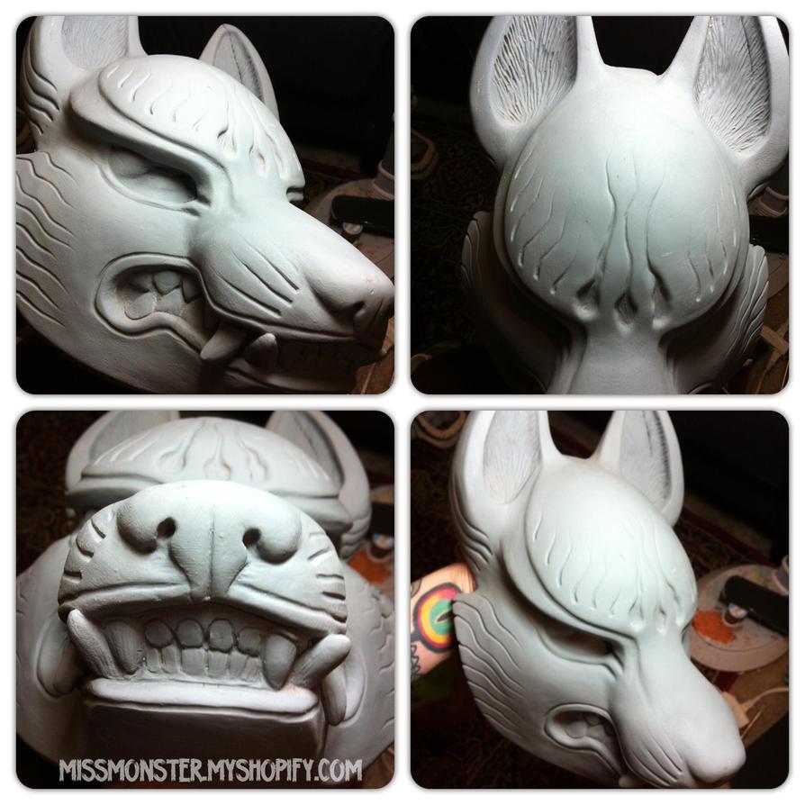 Kitsune mask raw cast by missmonster