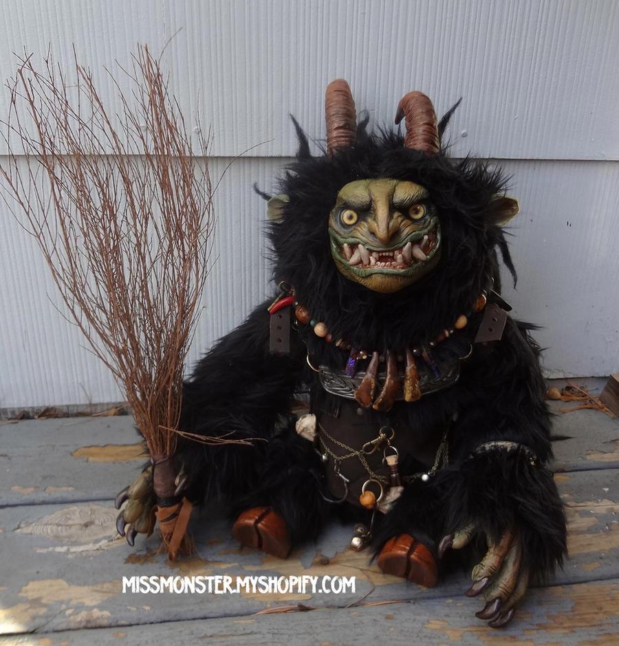 Krampus ooak doll