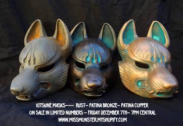 Kitsune masks preview by missmonster