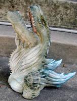 Godzilla head done by missmonster