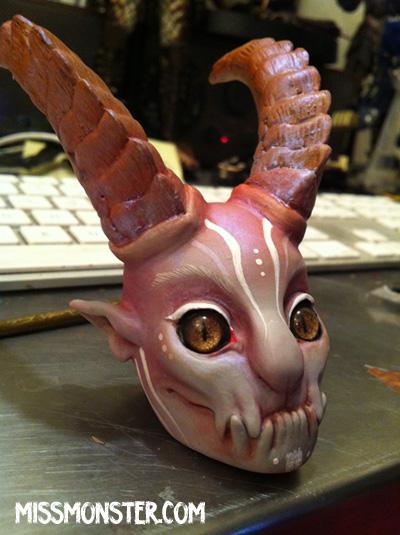 demon lady doll head by missmonster