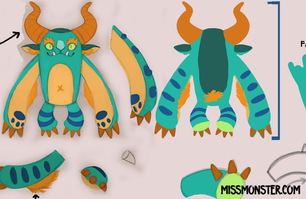 PLUSH monster sm by missmonster