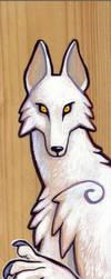 werewolf wood painting by missmonster