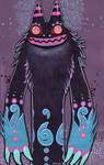 monster gouache painting