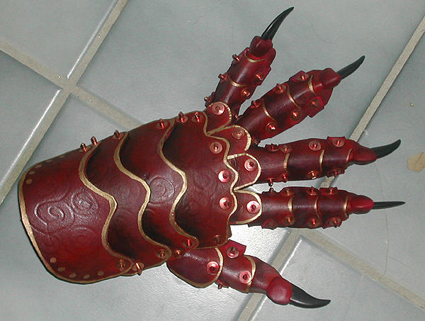 leather armor gauntlet by missmonster