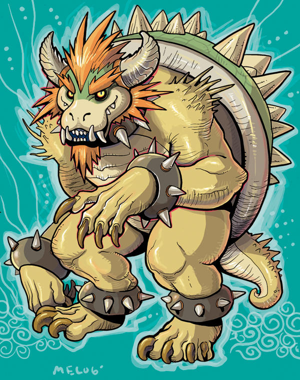 mean bowser by missmonster