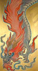 Dragon traditional by missmonster