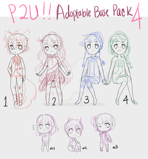 [P2U BASES] Adoptable Base Pack 4 by sportsbaes