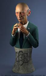 Mr. Burns bust by monomauve