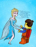 Frozen+Lego Movie crossover: Special Gift