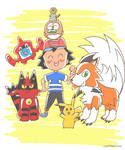 Ash's Alola Family by Cartuneslover16