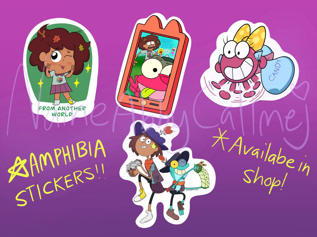 AMPHIBIA stickers now in my shop!