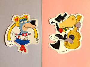 Kabong and Sailor Hound stickers