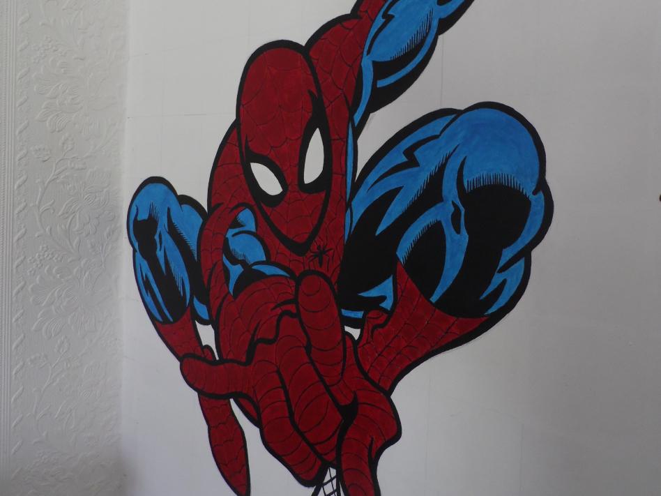 Spiderman acrylic mural painting by muralsedge on deviantart - Poster mural spiderman ...