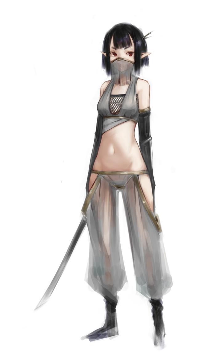 Elf Sword Dancer by rkeg