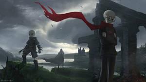 nameless skeletons by EvyMyu