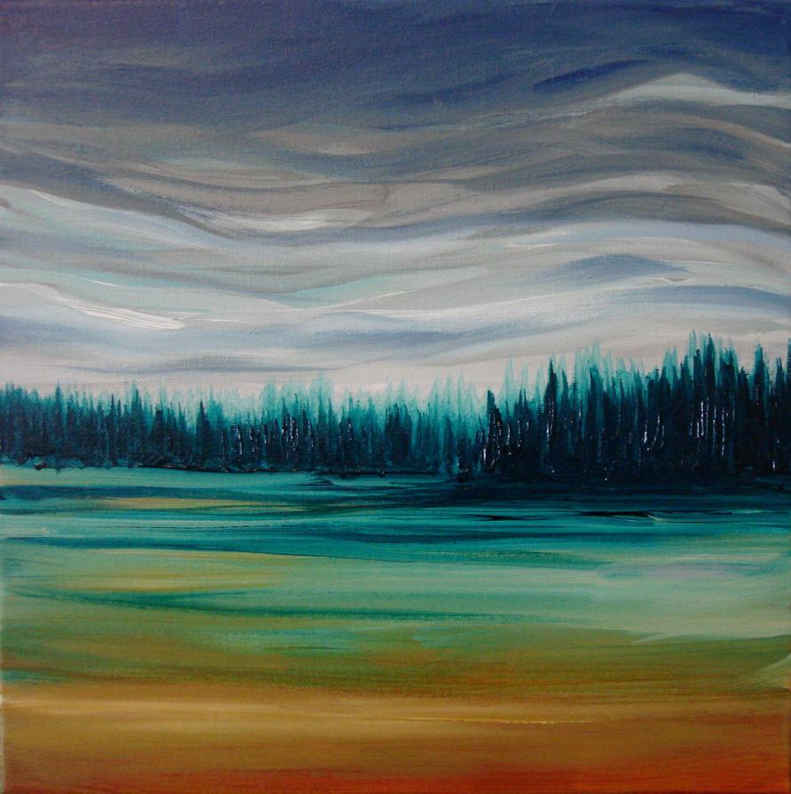 cloudy fields by NicoleRiel