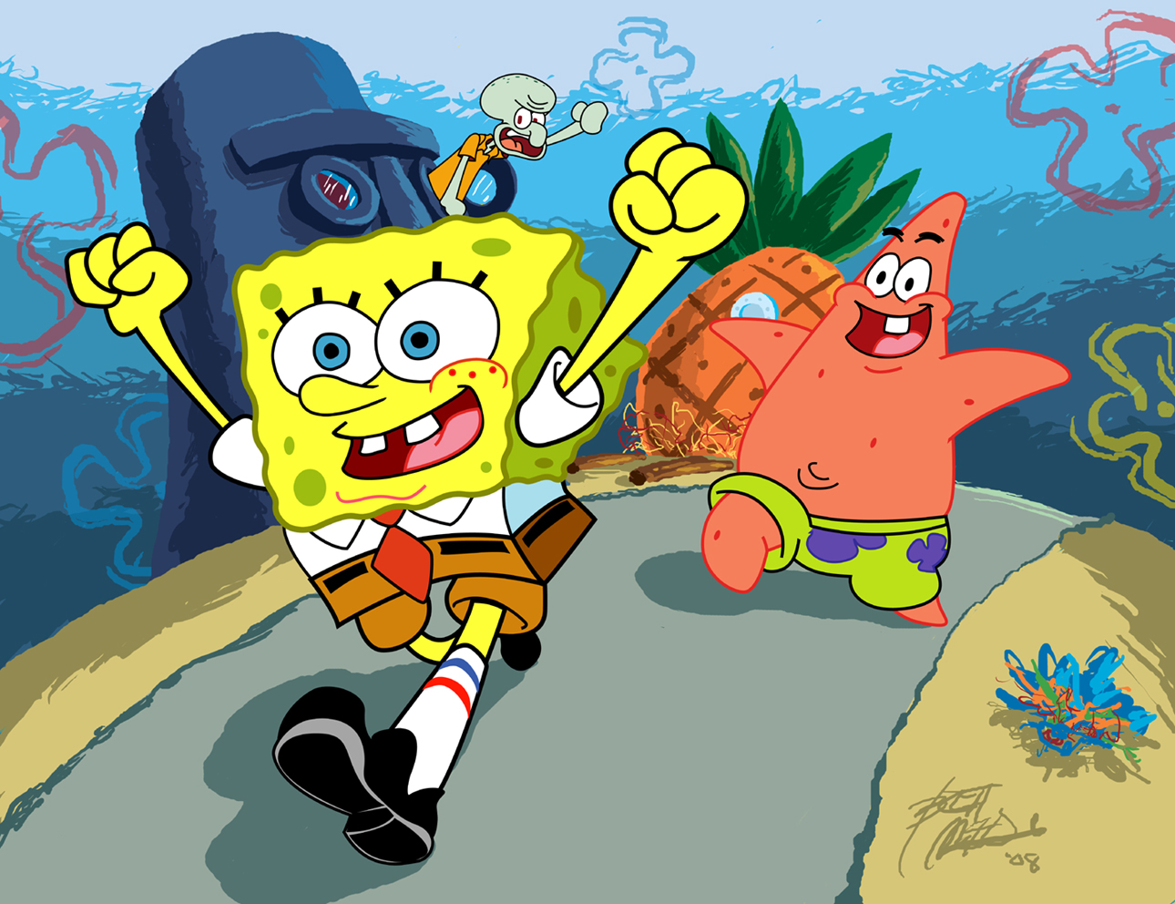 Image - SpongeBob Running For It.png   Encyclopedia SpongeBobia ...