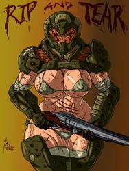 Doom Gal by BM-Illustrations