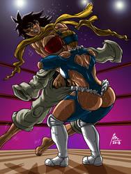 R. Mika VS Makoto by BM-Illustrations