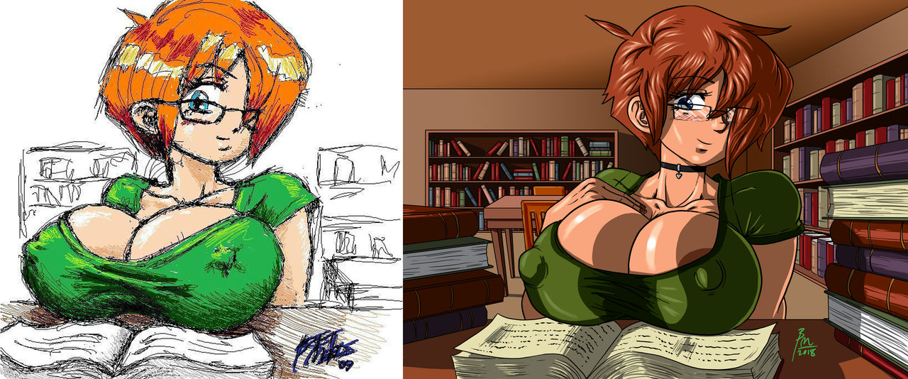 Can I Help You 2009 VS 2018 by BM-Illustrations