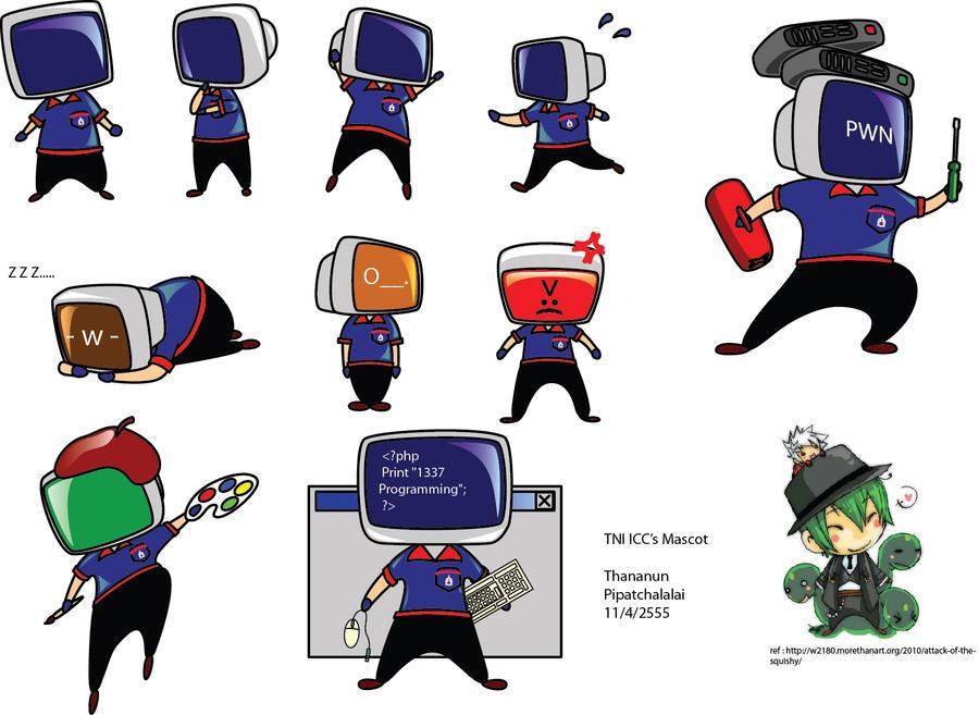 TNI ICC corporate artworks - 1 - The mascot by TypeProton