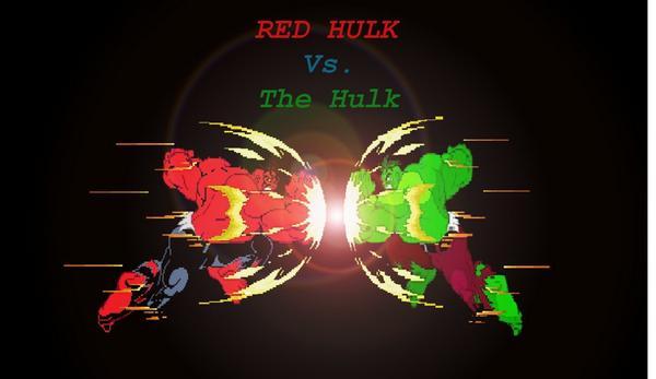 Red Hulk vs. Green Hulk by RB9 on DeviantArt