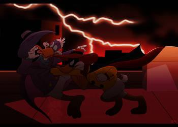 Rooftop Battle by Goku-san