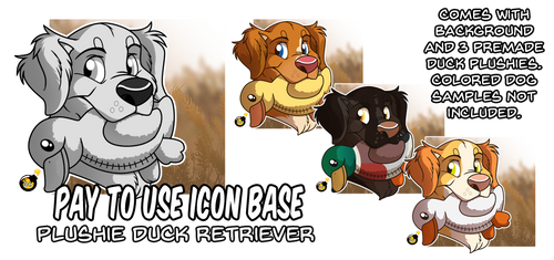 PTU Plushie Duck Retriever Icon Base