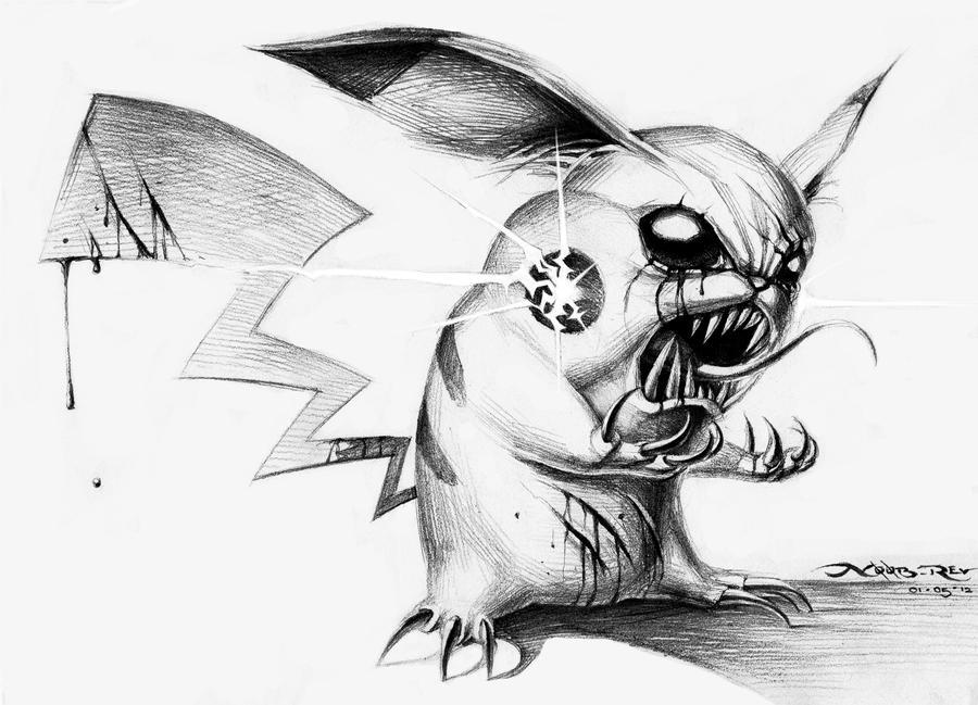 Evil Pikachu by n00brevolution on DeviantArt
