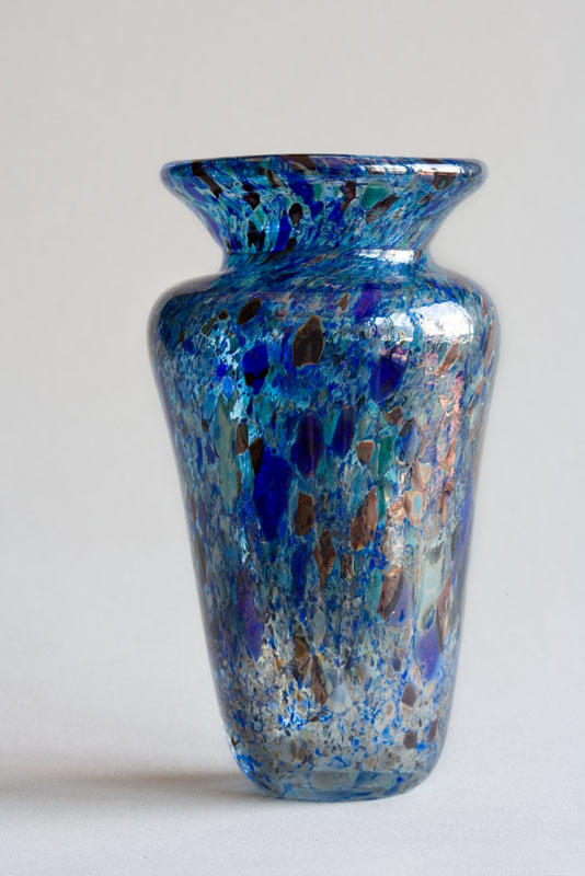 blue frit vase by fragilecraft