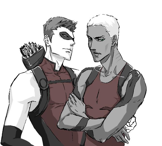 Roy and Kaldur by JJ-Boom