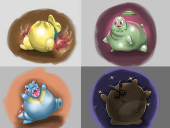 Fat Pokemon by shewolf444