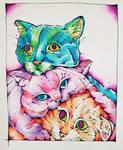 Three Strange Cats by shewolf444