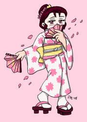 T-shirt Transfer: Geisha by AkiAmeko