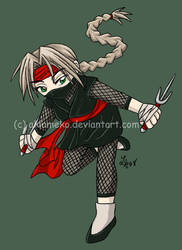 T-Shirt Transfer: Ninja Girl by AkiAmeko