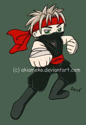 T-shirt Transfer: Ninja Boy by AkiAmeko