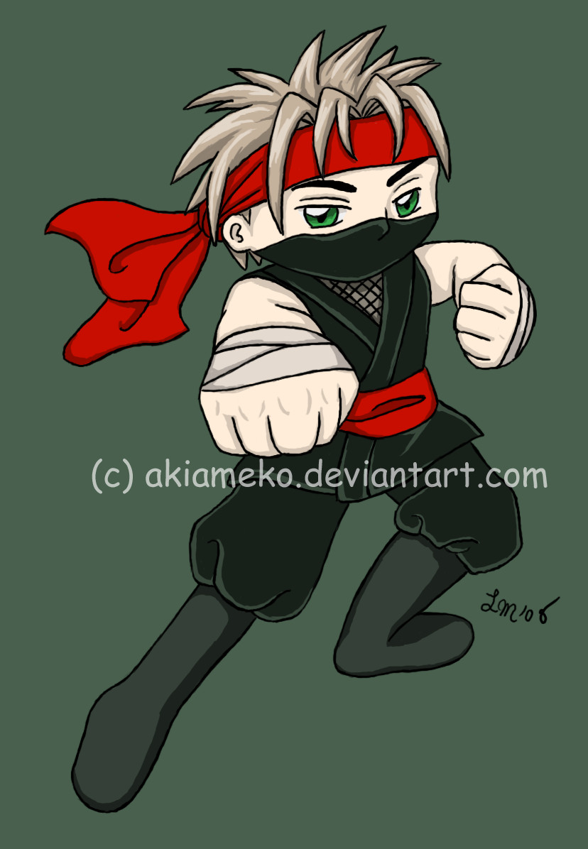 T-shirt Transfer: Ninja Boy by AkiAmeko
