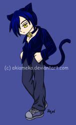 T-shirt Transfer: Cat Boy by AkiAmeko