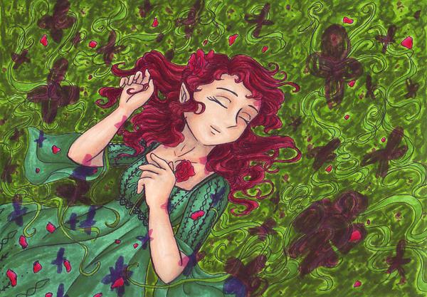In the Sea of Green by AkiAmeko