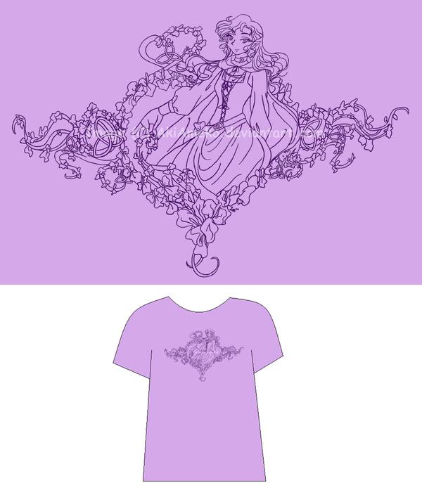 Aki Iris Tshirt Design by AkiAmeko