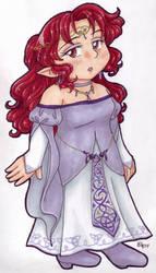 Princess Aki Copic Chibi by AkiAmeko