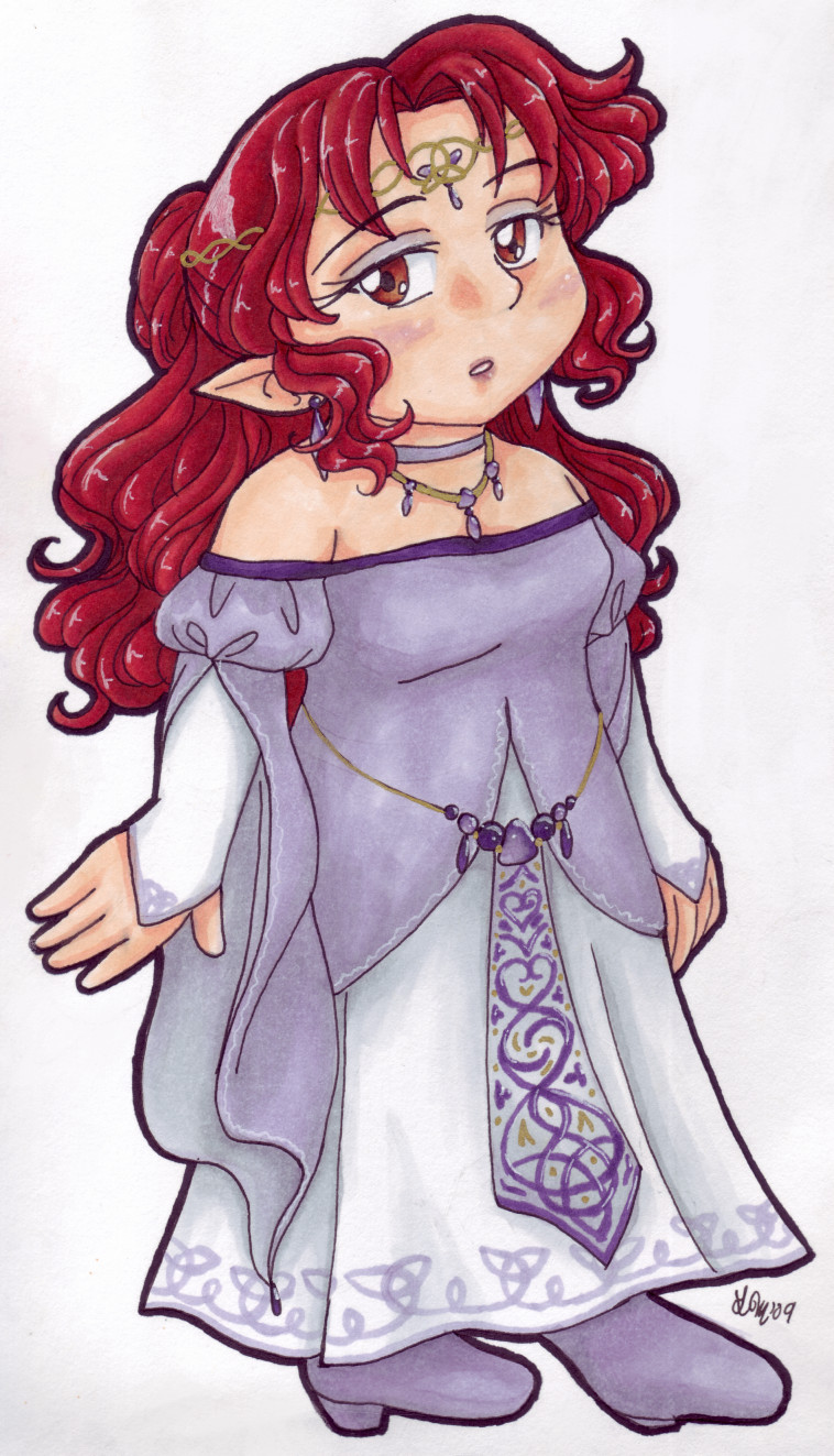 Princess Aki Copic Chibi by AkiAmeko