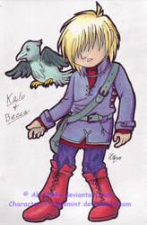 Kalo+Becca Copic Chibis by AkiAmeko