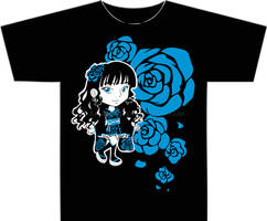 Blue Rose Walolita T-Shirt by AkiAmeko
